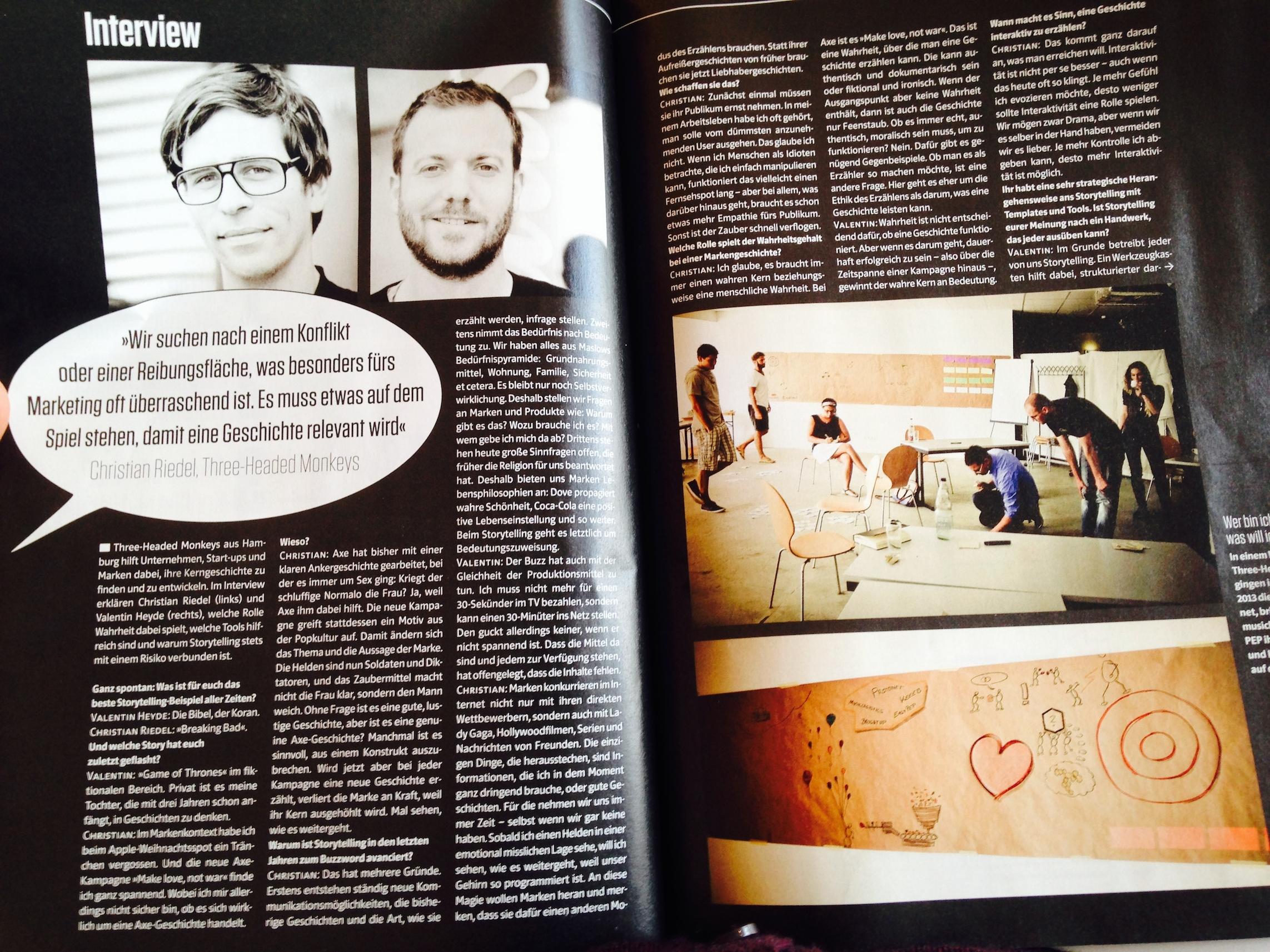 Interview in der aktuellen PAGE über Storytelling.