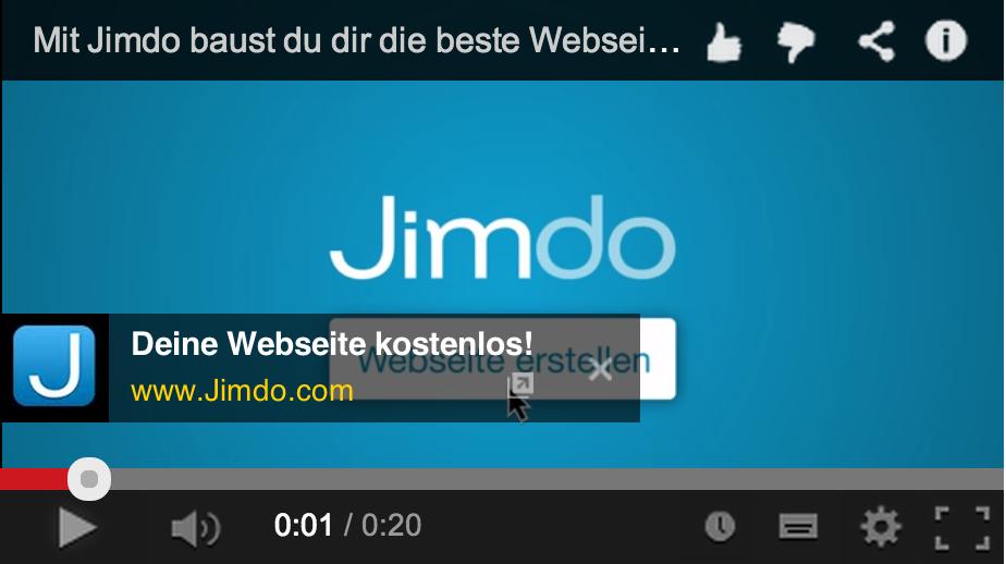 Entwicklung Jimdo TV-Spot (2014)